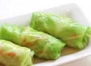 Bữa trưa thanh đạm cho trung thu với món bắp cải cuộn chay siêu dễ ăn