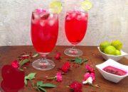 Tự chế nước soda hoa hồng thơm ngon giải khát lại đẹp da