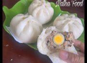 Bánh bao nhân thịt đặc biệt và cách gói dễ ơi là dễ  || steamed buns || Natha Food