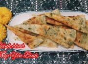 Bánh hành cách làm siêu dễ, bánh làm từ bột mì . Bếp Yên Bình
