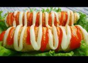 Cách làm BÁNH HOT DOG PHÔ MAI kiểu Hàn Quốc – Món Ăn Ngon