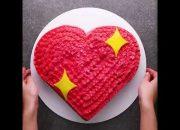Hướng dẫn tự làm bánh kem hình trái tim ❤❤ cực đẹp