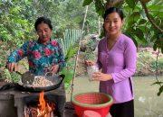 Mẹ con làm bánh Xèo ngày mưa – Hương vị đồng quê – Bến Tre – Miền Tây