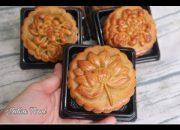 Bánh trung thu nướng truyền thống nhân hành xá xíu , vỏ mềm thơm ngon    Natha Food