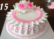 beautiful decoration Elegant pink – bánh sinh nhật màu hồng đẹp đơn giản (315)