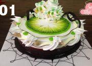 cake decorate chocola & fresh milk cream – bánh kem đẹp với socola ngon (301)