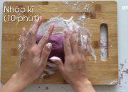Cách làm bánh bao chay 3 lớp khoai lang tím ngon tuyệt