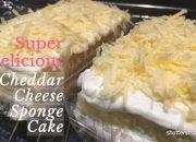Cheddar Cheese Sponge Cake |  Cách làm Bánh bông lan sốt kem phô mai mát lạnh tại nhà