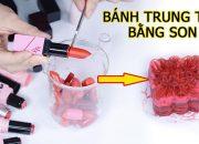 Thử thách làm Bánh Trung Thu Bằng Son – mooncake lipstick | Tiny Loly