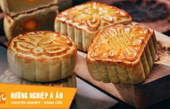 2 cách làm bánh Trung thu nướng nhân hạt sen – nhân sữa dừa   Học làm bánh Trung Thu