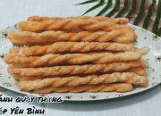 Cách làm bánh quẩy thừng giòn tan làm từ bột nếp, Bếp Yên Bình.