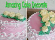 Amazing Cake Decorating /How To Decorate Cake Simple /76/ Bánh kem hoa văn đơn giản