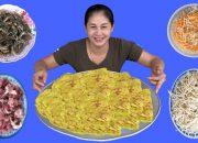 Làm Mâm Bánh Xèo Siêu Ngon Không Cưỡng Nổi ( Making pancakes ) – Ninh TV