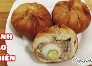 Cách làm bánh bao chiên nhân thịt trứng cút đơn giản ngon/ bánh bao chiên / bếp yên bình