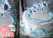 cake decoration blue-rosa blue milk cream – bánh kem màu xanh biển trang trí đẹp mới (170)