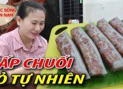 Bánh chuối hấp đỏ ( Cách làm lên Màu tự nhiên) #namviet