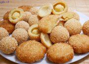 BÁNH CAM / BÁNH RÁN LÚC LẮC – Cách làm Bánh Cam và Bánh rán Mè nhân Đậu, Dừa by Vanh Khuyen