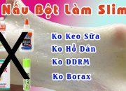 Làm Slime Bằng Bột Năng – Ko Keo Sữa Hay Hồ Dán Và Ko Dung Dịch Rơ Miệng | Emy Handmade
