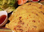 Bánh Xèo Chay – Cách pha bột Bánh xèo từ bột gạo – Bánh giòn tan Tram Nguyen Germany