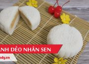 Hướng dẫn cách làm bánh dẻo nhân sen – Mooncake With Lotus Seed Paste