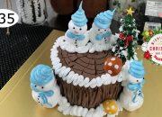simple decoration merry christmas cake – bánh kem giáng sinh đơn giản nhanh (435)