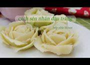 cách làm nhân đậu trắng bánh trung thu, hoa xôi đậu Hàn Quốc. ( bean paste)