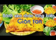 Món chay | Cách làm bánh xèo giòn tan đơn giản tại nhà | How to make Vietnamese pancake very crispy.