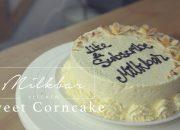 How to make Sweet Corncake   Cách làm bánh bông lan bắp